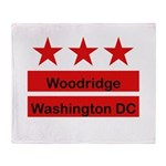 Woodridge - D.C . Flag Inspir Throw Blanket