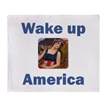 Wake Up America Throw Blanket