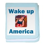 Wake Up America baby blanket