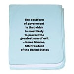 James Monroe Quotation baby blanket