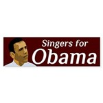 Singers for Obama bumper sticker