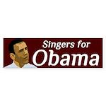Singers for Obama bumper sticker