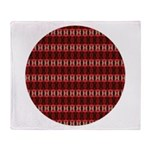 Red Pattern 997 Throw Blanket