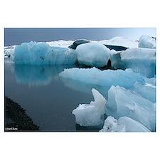 "Iceland Glacier Print, 19x11"""
