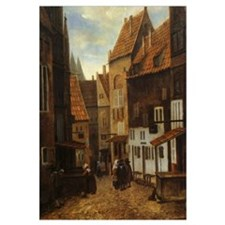 Dutch Street Scene Print