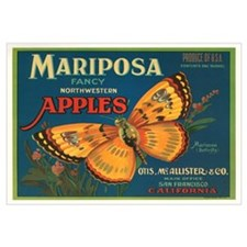 Mariposa Apples Crate Label