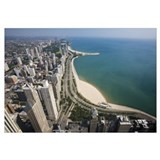 Chicago Lakeshore Aerial View