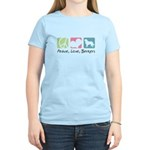 Peace, Love, Berners Women's Light T-Shirt