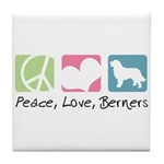 Peace, Love, Berners Tile Coaster