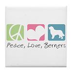 Peace, Love, Berners Tile Coaster