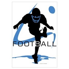 Unique Youth football Wall Art