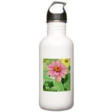 Miracles Zinnia Flower Water Bottle