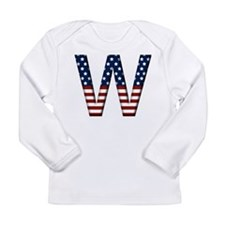 W Stars and Stripes Long Sleeve Infant T-Shirt