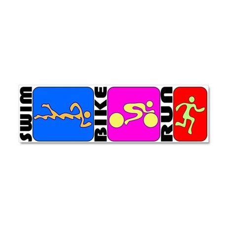 TRI Triathlon BANNER Car Magnet 10 x 3