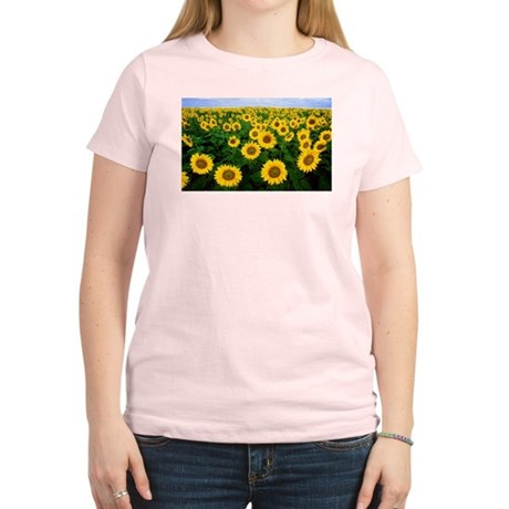 Sunflowers in field Women's Light T-Shirt