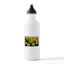 Sunflowers in field Water Bottle
