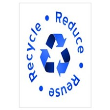 Blue Reduce Reuse Recycle