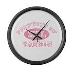 Property of Yasmin Large Wall Clock