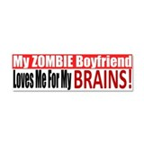 Zombie Boyfriend BUMPER Car Magnet 10 x 3