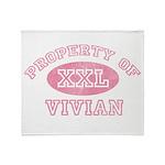Property of Vivian Throw Blanket