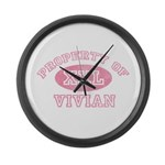 Property of Vivian Large Wall Clock