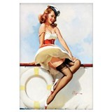 Anchors Aweigh Navy Pinup Girl