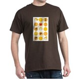 I Love Banana Monkey Black T-Shirt
