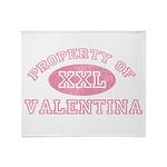 Property of Valentina Throw Blanket
