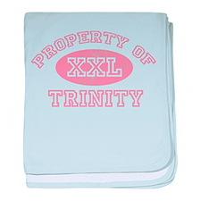 Property of Trinity baby blanket