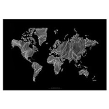 Cute World map Wall Art