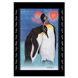 Emperor penguin illustration Wall Art