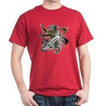 Anderson Tartan Lion Dark T-Shirt - Scottish lion rampant with the Anderson clan tartan and a banner with the family name. - Availble Sizes:Small,Medium,Large,X-Large,X-Large Tall (+$3.00),2X-Large (+$3.00),2X-Large Tall (+$3.00),3X-Large (+$3.00),3X-Large Tall (+$3.00) - Availble Colors: Black,Cardinal,Navy,Military Green,Red,Royal,Brown,Charcoal,Kelly Green,Green Camo
