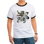 Anderson Tartan Lion Ringer T - Scottish lion rampant with the Anderson clan tartan and a banner with the family name. - Availble Sizes:Small,Medium,Large,X-Large,2X-Large (+$3.00) - Availble Colors: Black/White,Red/White,Navy/White
