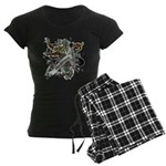 Anderson Tartan Lion Women's Dark Pajamas - Scottish lion rampant with the Anderson clan tartan and a banner with the family name. - Availble Sizes:Small,Medium,Large,X-Large,2X-Large (+$3.00) - Availble Colors: With Checker Pant,With Pink Pant,With Pink Camo Pant,With Blue Strpe Pant,With Red Plaid Pant,With Democrat Pant,With Republican Pant