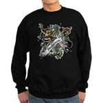 Anderson Tartan Lion Sweatshirt (dark) - Scottish lion rampant with the Anderson clan tartan and a banner with the family name. - Availble Sizes:Small,Medium,Large,X-Large,2X-Large (+$3.00) - Availble Colors: Black,Navy