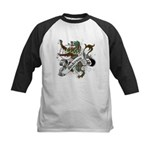 Anderson Tartan Lion Kids Baseball Jersey - Scottish lion rampant with the Anderson clan tartan and a banner with the family name. - Availble Sizes:S (6-8),M (10-12),L (14-16) - Availble Colors: Black/White,Red/White,Navy/White