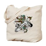 Anderson Tartan Lion Tote Bag - Scottish lion rampant with the Anderson clan tartan and a banner with the family name.