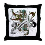Anderson Tartan Lion Throw Pillow - Scottish lion rampant with the Anderson clan tartan and a banner with the family name.