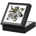 Anderson Tartan Lion Keepsake Box - Scottish lion rampant with the Anderson clan tartan and a banner with the family name. - Availble Colors: Black,Mahogany