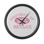 Property of Skylar Large Wall Clock
