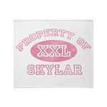 Property of Skylar Throw Blanket