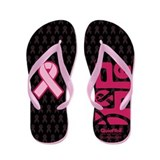 Think Hope (DkPink/Black) Flip Flops