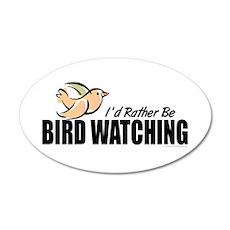 Bird Watching 22x14 Oval Wall Peel