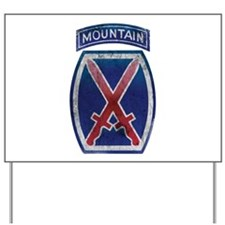 10th Mountain Division Vintag Yard Sign