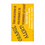 Orange Alert Rectangle Sticker