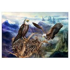 Cute American eagle Wall Art