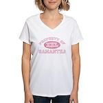 Property of Samantha Women's V-Neck T-Shirt