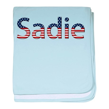 Sadie Stars and Stripes baby blanket