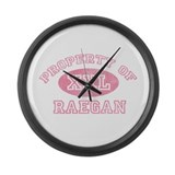 Property of Raegan Large Wall Clock