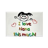 I Love Nana (Girl) Rectangle Magnet